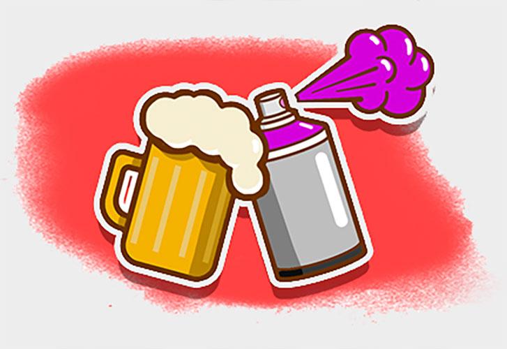 Graffiti y cervezas