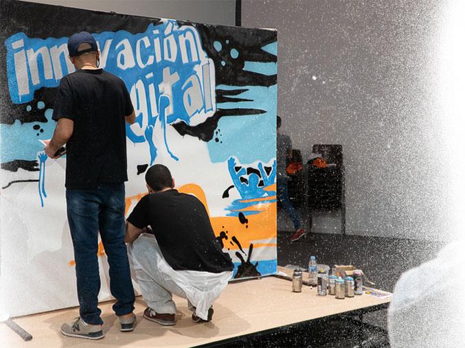 Nuestra empresa de actividades Team Building de Graffiti