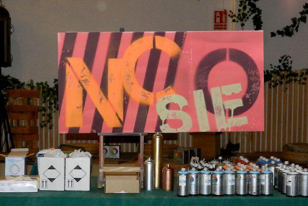 Graffiti en taller de Team Building